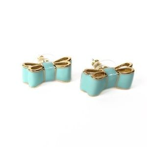 NWOT! Kate Spade Blue Bow Earrings!
